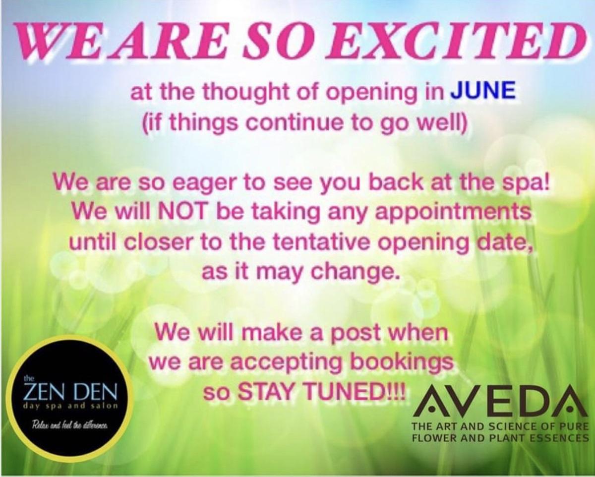 Re-opening in June
